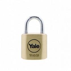 Lacat de alama Yale Y110/20/111/1, cu cheie, corp de 20 mm
