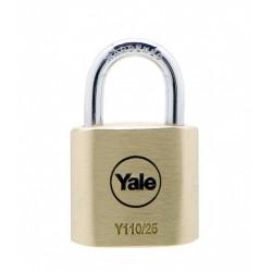 Lacat de alama Yale Y110/25/115/1, cu cheie, corp de 25 mm