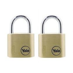 Lacat de alama Yale Y110/30/117/2, cu cheie, corp de 30 mm, set de 2 bucati