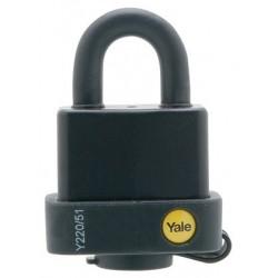 Lacat rezistent la umiditate Yale Y220/71/130/1, cu cheie, corp de 71 mm