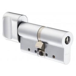 Cilindru cu buton Protec2, 31x31mm, bara otel antirupere, finisaj Bright Chrome