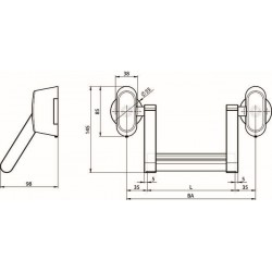 One System N2000: Bara antipanica tip A, rozeta rotunda, finisaj inox.