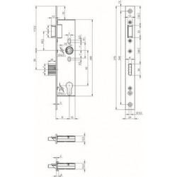 One System N1550: Broasca pentru usi rezistente la foc din profile de otel sau aluminiu. Backset: 25/30/35/40/45mm.