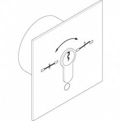 1140-11 - Comutator cu cheie, contacte NO, motaj ingropat