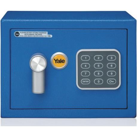 Seif standard mini Yale YSV/170/DB1/B, cifru, 170x230x170 mm, Bleu